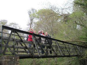 Crossing the bridge into the glen