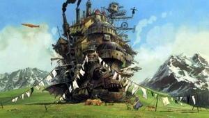 This is Howl's castle. It is propelled by fire and magic