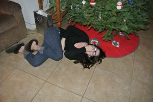 This photo sums up Christmas for me.  I'm entirely sober and hyperventilating over a joke my brother told